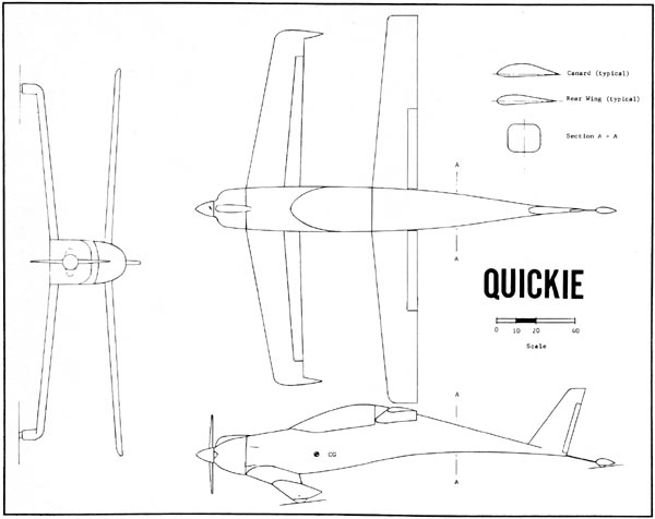 Quickie 3-view Drawing