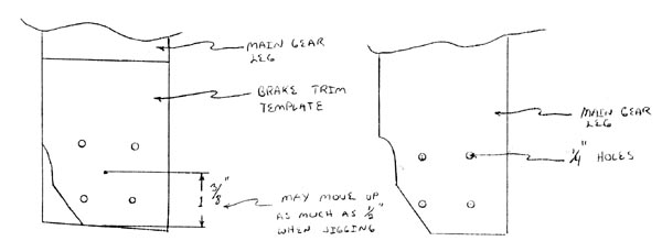 Main Gear Brackets